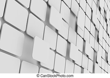 Abstract white rectangle. Background.