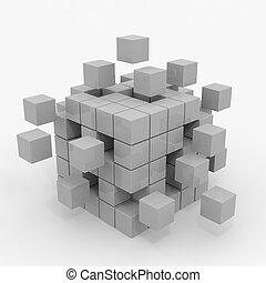 Cubo, el montar, Bloques