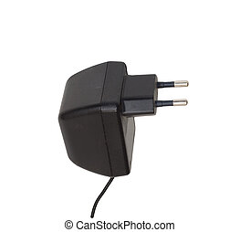 AC adapter isolated on white background