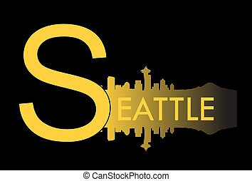 Seattle v - Seattle city high rise buildings skyline