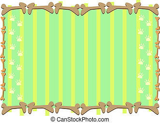 Frame of Bones, Paws, and Stripes