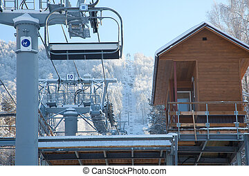 ski lift winter day