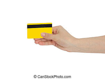 credit card in hand