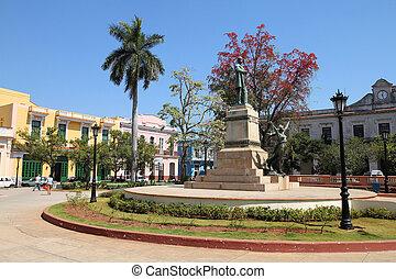 Matanzas, Cuba - city architecture. Main town square.