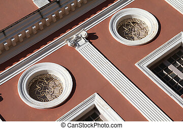 Colonial architecture - Abstract view of old colonial...