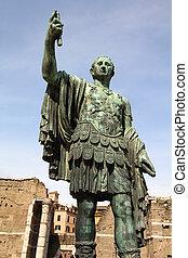Augustus - Rome, Italy - bronze sculpture of Augustus...