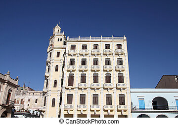 Matanzas, Cuba - city architecture. Old colonial...