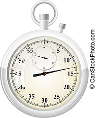 Vector illustration of a stopwatch