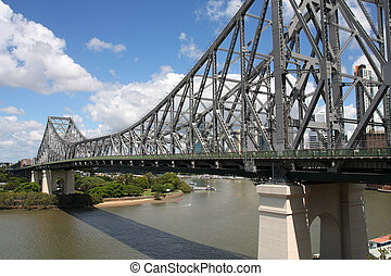 Brisbane - Cantilever bridge - Story Bridge in Brisbane,...