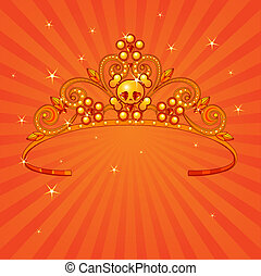 Halloween Princess Crown - Beautiful shining Halloween...