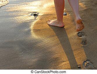 pegada, Areia
