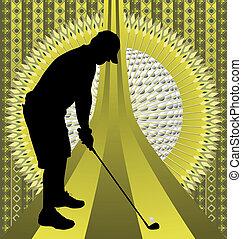 Vintage background golfer