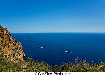 Sea view from Calanques. Provence