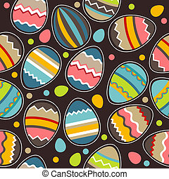 Seamless bright easter pattern
