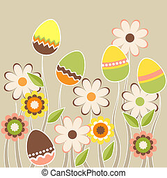 Stylized growing easter eggs