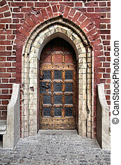 Malbork castle door - Door to Malbork castle in Pomerania...