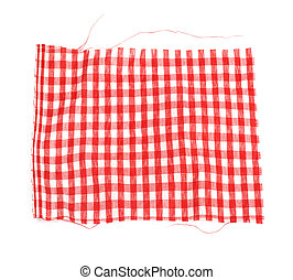 piece of red plaid fabric