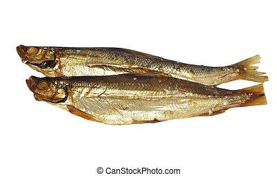 pescado blanco, fumados, dos