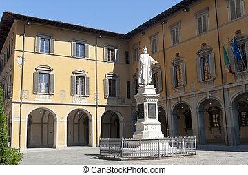 Prato (Tuscany), historic square - Prato (Tuscany, Italy),...