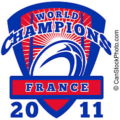 Rugby ball France World Champions 2011