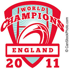 Rugby ball England World Champions 2011