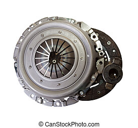 auto parts - automotive engine clutch. Isolated on white...