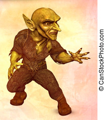 Green Goblin Demon fighting - Green Goblin Demon in fighting...