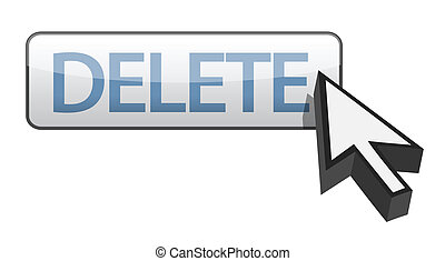 delete button illustration design over white