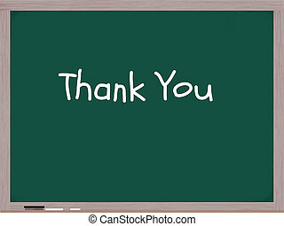 Thank You on Chalkboard in White