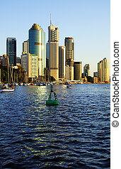 Brisbane CBD - Skyline of Brisbane city CBD in Australia...