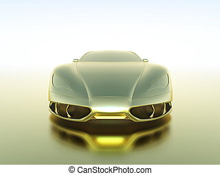 Sports car - The front of the metallic sportscar