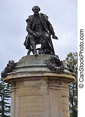 Shakespeare's Statue in Stratford-upon-Avon, England