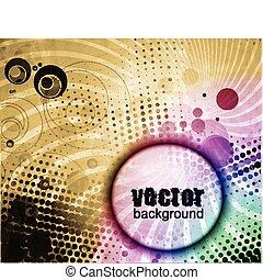 abstract grunge circle