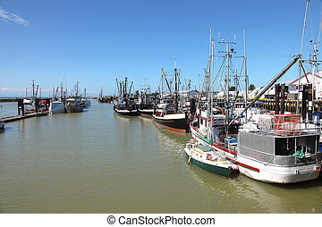 Fishing community of Richmond BC Canada. - Fishing vessels...