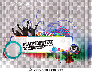 party banner - abstract urban music danace party banner...