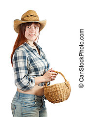 pastoral  woman with basket