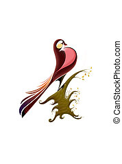 Bird - Isolated clip-art cartoon illustration for yours...