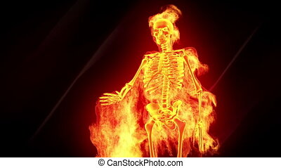 Fiery skeleton
