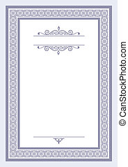 Certificate template - Classical frame for invitation,...