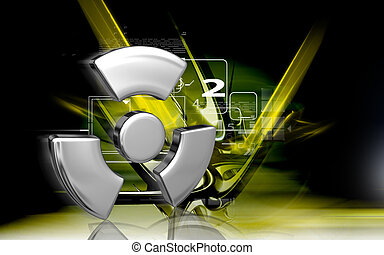 radiation symbol - Digital illustration of radiation symbol...