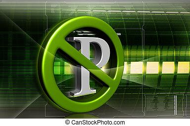 No parking sign - Digital illustration of no parking sign in...