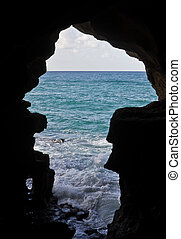 Cave of Hercules - Seaview in the Cave of Hercules, Tangier...