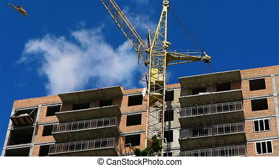 Construction crane against a sky