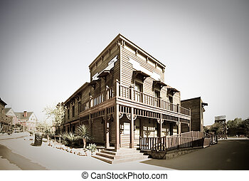 Wild west town - Retro photo of Wild west town