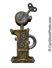 steampunk letter i
