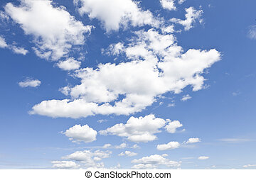 Cloudscape - Clouds on a blue sky
