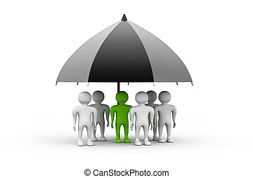 team standing black umbrella - team standing with a black...