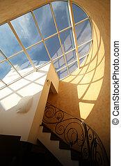 techo, claraboya, ventana