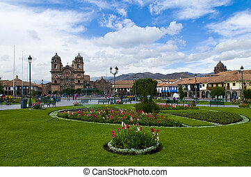 Cusco - The Plaza the Armas , a main tourist attraction in...