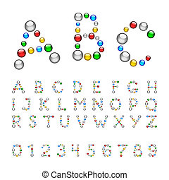 Merry font bead - Merry font of shiny colored balls
